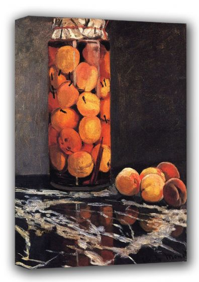 Monet, Claude: The Peach Glass, 1866 (Jar/Pot of Peaches). Fine Art Landscape Canvas. Sizes: A3/A2/A1 (00777)